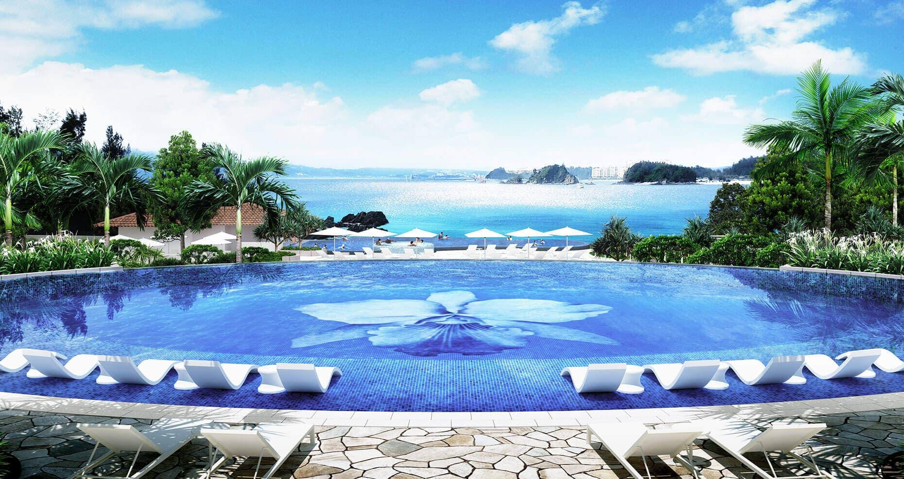 「ハレクラニ沖縄 プール フリー画像」の画像検索結果